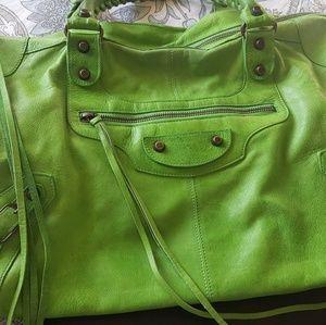 Balenciaga Apple Green 2005 Work Chevre Leather
